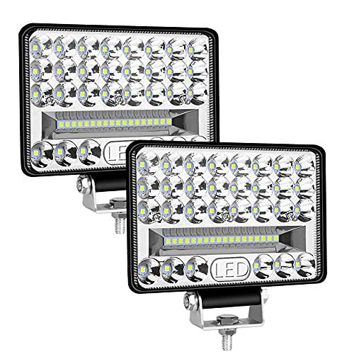 """Phare de Travail LED, 6""""172W 27,000LM 2PCS Projecteur LED Voiture 12V 24V 6000K IP68 Étanche Lumière de Travail pour Tracteur Camion Bateau SUV-Garantie 2 an"""