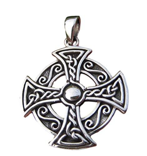 925 Plata Vikingo Nórdico Celtic Trident Colgante Collar joyería Arte A19