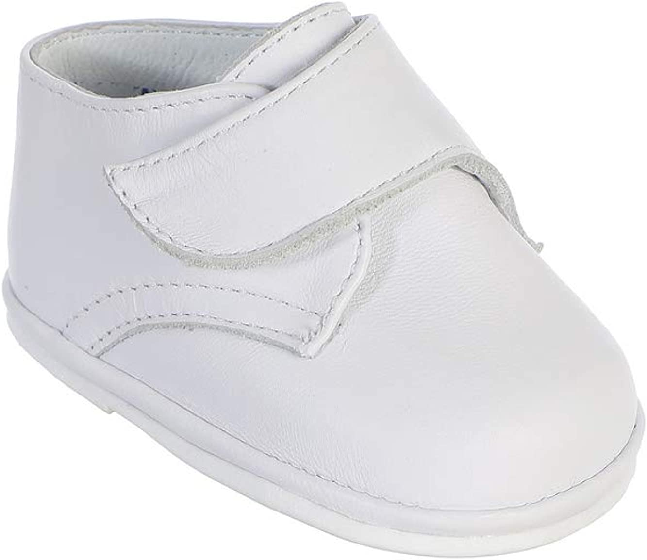 Avery Hill Boy's White Hook and Loop Fastener Strap Leather Special Occasion Shoes
