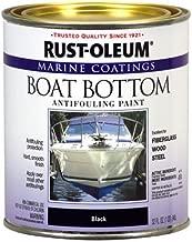 Rust-Oleum Not Available 207012 Marine Flat Boat Bottom Antifouling Paint, 1-Quart, Black