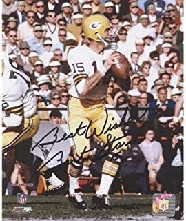 Bart Starr Autographed Signed Auto Green Bay Packers White Jersey 8x10 Photograph - Certified Authentic