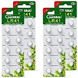 Paquete de 40 pilas alcalinas Pila de botón celular LR41 AG3 Paquete de 40 baterías