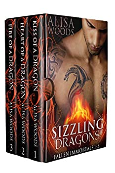 Sizzling Dragons Box Set  Books 1-3  Fallen Immortals —Dragon Shifter Paranormal Romance  Fallen Immortals Box Sets Book 1