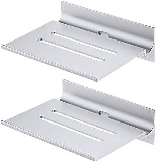 Umi. por Amazon 15 cm Estante para Dispositivos Digitales de Aluminio Anodizado con Acabado Plateado para Colgar en la Par...