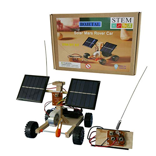 Bojetal Solar Car Toys with Wireless Remote Control | Educational DIY STEM Wooden Building Kits for Boys and Girls | Engineering Robotics Science Experiment Projects for Kids and Teens Gifts