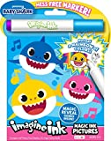 Bendon Baby Shark 24 Page Imagine Ink Magic Pictures with 1 Mess Free Marker 47225