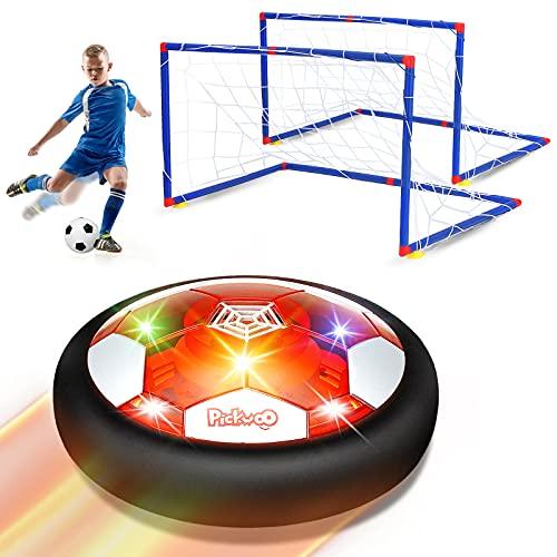 Pickwoo Air Power Fußball Kinderspielzeug Fussball Geschenke Jungen 5 6 10 Jahre - Wiederaufladbar Hover Soccer Ball mit LED-Licht Schaum Stoßstangen Geschenke Ostergeschenke für Junge Mädchen
