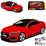 A-U-D-I A5 F5 II RS5 Coupe Rot 2. Generation Ab 2016 1/24 Bburago Modell Auto