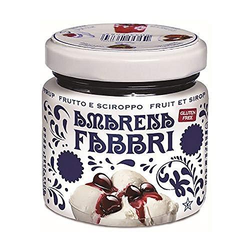Fabbri Amarena Opaline Amarena Kirschen in Syrup a 1000g ( 450g Kirscheinlage) in Glasbehälter mit Schrubverschluss