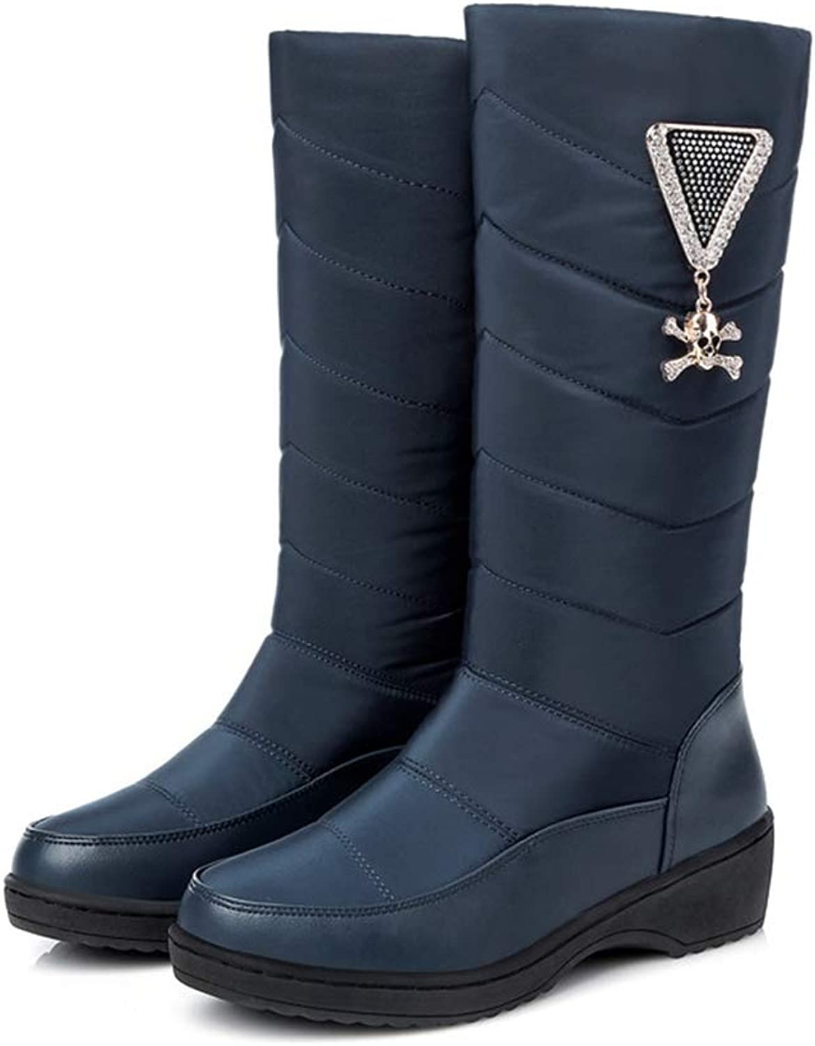 LVYING Mid Calf Boots for Women Fashion Winter Warm Platform Down Waterproof Snow Boots