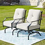 Top Space Patio Chairs Outdoor Rocking Chairs Bistro Set Patio Conversation Set,Metal Outdoor Furniture with Cushion