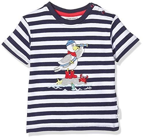 Salt & Pepper Baby-Jungen 03212103 T-Shirt, Blau (Navy 498), (Herstellergröße: 62)