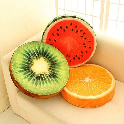 XdiseD9Xsmao Cuscino Rotondo Morbido Durevole Cuscino di Peluche Arancia Kiwi Anguria Giocattoli di Frutta Cuscino per Sedile Cuscino per Divano di Casa Decorazioni per Soggiorno 1#