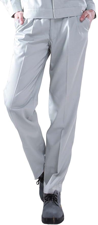祭司円周面作業着 作業ズボン パンツ 男女兼用 スラックス 作業パンツ 仕事着 ワークパンツ ワークウエア ボトムス ブラウン/グレー/ネイビー/ブルー/ダークグレー SS/S/M/L/LL/3L/4L/5L 小さいサイズ/大きいサイズ