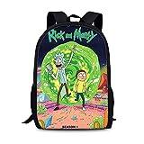 Rick And Morty - Mochila escolar para niños y niñas, bolsa de hombro para...