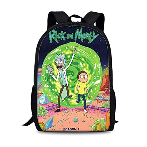 Rick And Morty: Mochila escolar para niños y niñas