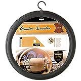 SUMEX 250VANN Special Van Funda de Volante para Furgonetas, Piel Natural, Diámetro 42 cm, Negra con Cosido Negro