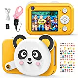 Vimpro Kids Camera for Girls Boys, Kid Digital Selfie Camera Children Toys 16MP 1080P HD Video Camera with 2.4 Inch IPS Screen and 32GB SD Card Outdoor Indoor Party Best Gift for 4-10 Year Old Kids