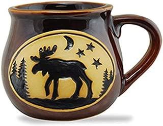 Cape Shore Handcrafted Bean Pot Stoneware 16oz Mug, Multiple Styles Available (Moose)