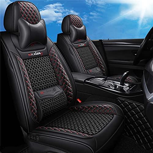 Fly YUTING Coperchio del Sedile Auto in Pelle per Sedile Altea XL Ibiza Arona Leon 2 MK2 ATECA 6J MK3 Accessori Coprisedili,Nero