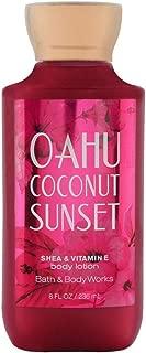 Bath & Body Works Oahu Coconut Sunset Shea & Vitamin E Body Lotion, 8 Ounce