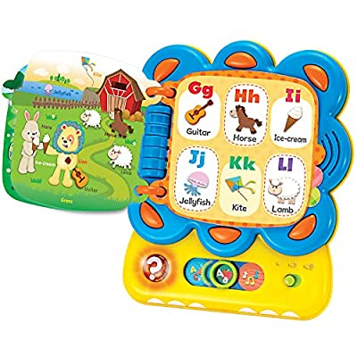 KiddoLab Learning Toys for Toddlers, Chapa The Lion, My First Tablet Interactive Touch and Learn Activity Sound Book. Alphabet and Word Learning Toy for Infants.Educational Toys for 1 Year Old