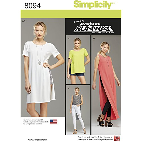 Simplicity 8094 Project Runway Women's Leggings, Shorts, and Tunic Sewing Pattern, Sizes 12-20