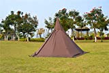 Waterproof Adult Camping Tipi Indian Teepee Pyramid Tent with Stove Hole