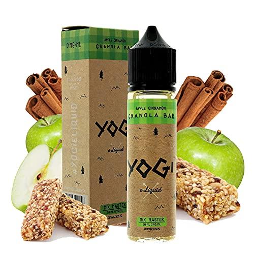 Apple Cinnamon Granola Bar - Yogi E-Liquid   50ML   Sin Nicotina: 0MG   70VG/30PG   E-Liquido para Cigarrillos Electronicos   Vaper   E Cigarette   E Shisha