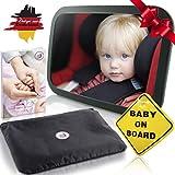 Baby Auto Spiegel Rücksitzspiegel mit 6 Teile I Universeller Autospiegel Babyspiegel für Babys im Auto Kinder-Sitz I Qualitäts Rückspiegel für