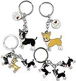 e-dreamstore Precioso llavero de perro, Bulldog maltés, cor
