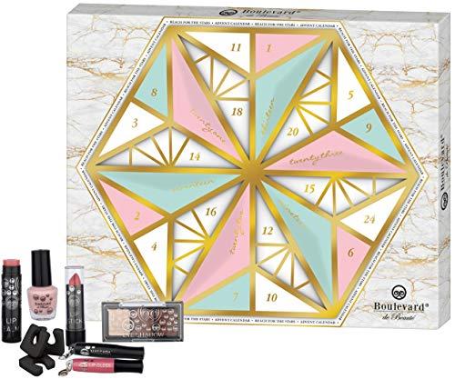Boulevard de Beauté Reach For The Stars Advent Calendar - der dekorative Blickfang für die Weihnachtszeit - Kosmetikkalender, 24 Stück