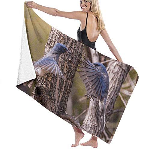 Toallas de baño Grandes súper Suaves,Pájaro Azul y Blanco en la Rama de un árbol marrón Durante el día,Toallas de Playa Secado rápido suavidad,80x130cm