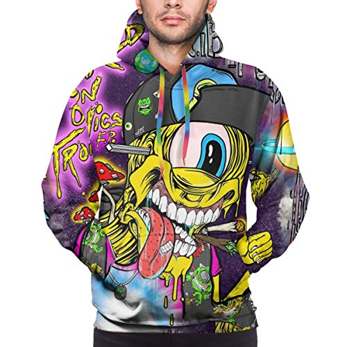 BIGFANSS Hoodies for Men Color Ribbon Boys Sweatshirt 3D Printing Long Sleeves Pullover Youth Sportswear Jacket