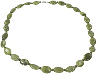 Connemara Marble Women's Oval Bead Necklace Made in Ireland