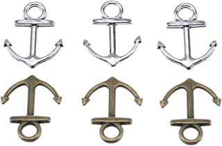 160pcs Mix Color Vintage Metal Alloy Nautical Anchor Charms Jewelry Anchor Pendants for Crafting, Jewelry Making Accessory 18x14mm (160pcs)