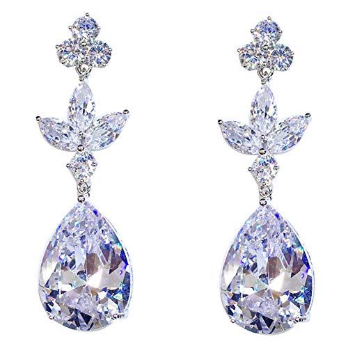 JINGM Boucles d'oreilles De Mariage De Fête pour Les Femmes Bijoux Cadeau Boucles d'oreilles en Diamant Non Allergiques pour Les Femmes