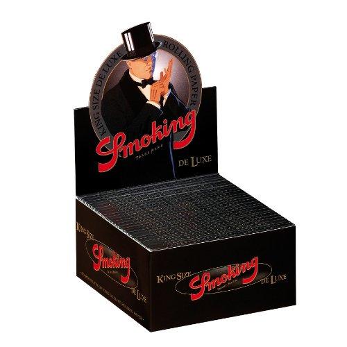 Smoking King Size de Luxe schwarz