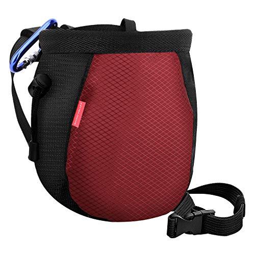 Rhino Valley Magnesiabeutel, Nein leck Rock Klettern Chalkbag Magnesiasack Chalk Bag mit Verstellbaren Gürtel zum Fitnessstudio, bouldern, Gewichtheben,Turnen