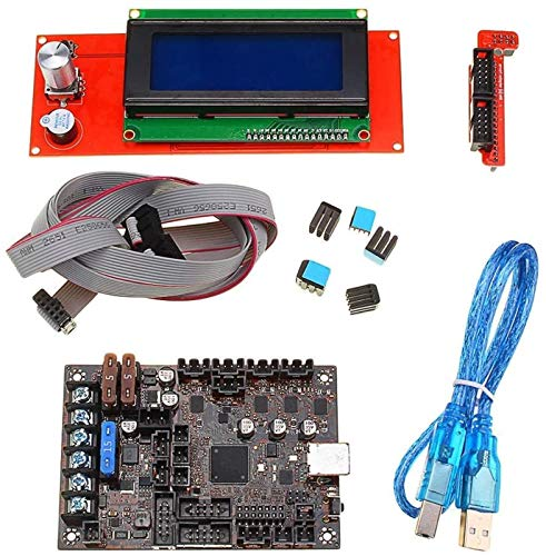 GJNVBDZSF 2004 LCD Display+Einsy Rambo 1.1a Mainboard For Prusa i3 MK3 With 4 Trinamic TMC2130 Control 4 Mosfet Switched Outputs 3D Printer Part printer accessories PC Accessories