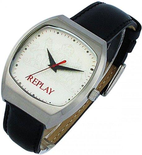 Replay orologio da uomo con cinturino in pelle nera RX5604AH