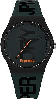 ساعة يد للرجال بعرض انالوج ومينا اخضر فلوري مطفي وسوار سيليكون اخضر - SYG189NB من سوبر دراي