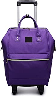 TONGSH Luggage Rolling Shopper Tote Laptop Wheeled Backpack Expandable Hand Waterproof Flight Bag Luggage Carry On Trolley Suitcase Flight Cabin Universal Wheel Suitcase (Color : Purple)