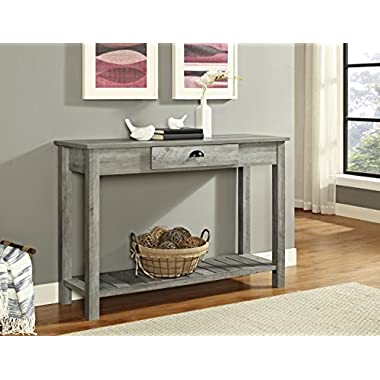WE Furniture AZF48CYETGW Country Style Entry Console Table, 48 , Gray Wash
