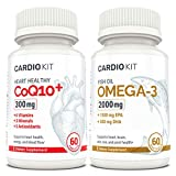 CARDIO KIT - Complete Supplement Kit with Essential Vitamins + Minerals + antioxidants +1,000mg Omega-3 Fish Oil (EPA + DHA) CoQ10, B6, B12, D3, More Essentials (60 Count)