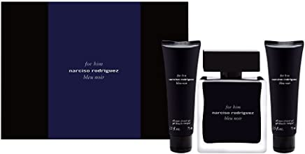 Narciso Rodriguez Gift Set for Him Bleu Noir by Narciso Rodriguez Gift Set for Men - Eau de Toilette, 100 ml - 75 ml - 75 ml, 3 Count