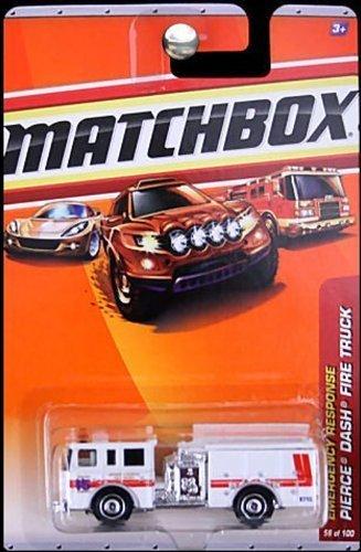 Matchbox 2010 Pierce Dash Fire Truck #56/100. Burtonsville Volunteer Fire Department, Emergency Response . 1:64 Scale.