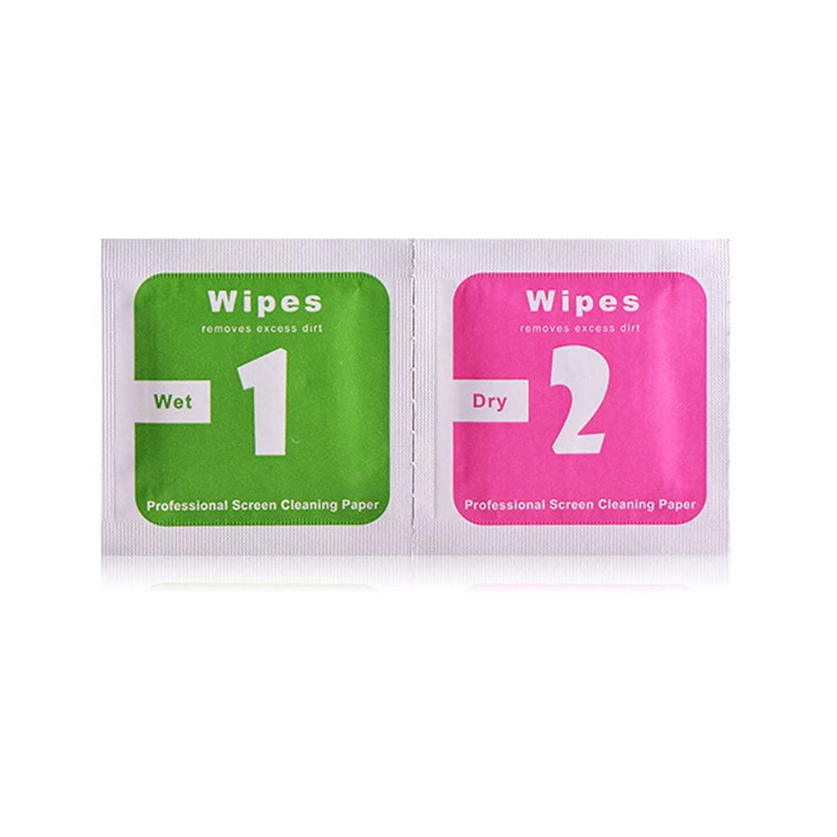 Wet Wipes + Dry Wipes Cleaning Cloth for iPhone 5s 6 6s 7 8 XS Max LCD Screen Protector Tempered Glass Camera Lens Dust Remover Papers (100)