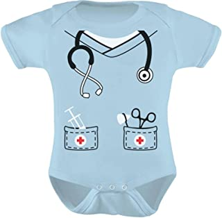 Infant Doctor Nurse Physician Halloween Easy Costume Cute Baby Bodysuit