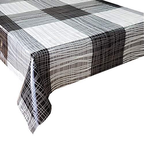 Mantel Hule Líneas · Mantel Antimanchas Resistente y Lavable · Mantel Mesa Rectangular en PVC · Hules para Mesas · Múltiples Diseños y Económicos · Medidas ( 300 cm x 140 cm )